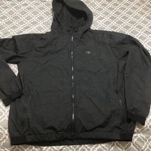 Men's Champion Hooded Windbreaker Jacket Large